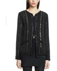 Patrizia Pepe Unlined Jacket in Viscose Georgette Hand Embroidered - Lyst