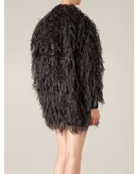Lanvin Faux Fur Top - Lyst