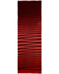 Armand Diradourian - Ombré Zigzag Print Wool-cashmere Scarf - Lyst