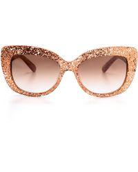 Kate Spade Ursula Sunglasses Red Glittergrey Gradient - Lyst