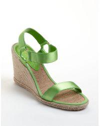 Lauren by Ralph Lauren Indigo Banded Espadrille Wedge Sandals - Lyst