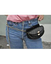 Chloé   Georgia Bum Bag, Quilted Black   Lyst