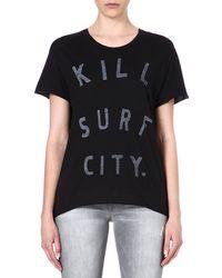 Zoe Karssen Kill Surf City T-shirt - Lyst