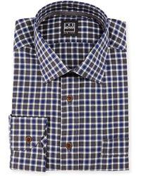 Ike Behar - Check Dress Shirt - Lyst