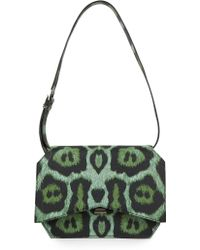 Givenchy   Jaguar-print Medium Leather Bow-cut Shoulder Bag   Lyst