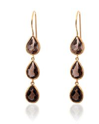 Toosis Long Smoky Quartz Drops Brown Earrings - Lyst