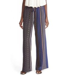 The Hanger - Mixed Print Palazzo Pants - Lyst