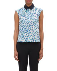 "Jil Sander Poplin ""Ladies"" Sleeveless Shirt - Lyst"