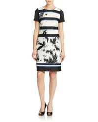 Vince Camuto Abstract Striped Sheath Dress - Lyst