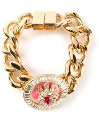 Shourouk Gold Brutus Bracelet - Lyst