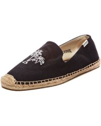 Soludos Mens Smoking Slipper Embroidery black - Lyst