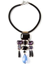 Giorgio Armani Geometric Drop Pendant Necklace - Lyst