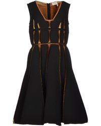 Lanvin Black Knee-length Dress - Lyst