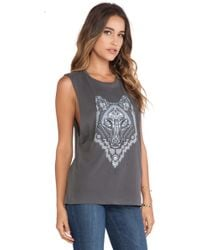 Obey Thunder Wolf Tank - Lyst