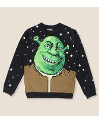 Jeremy Scott Shrek-Motif Cotton Jumper - Lyst