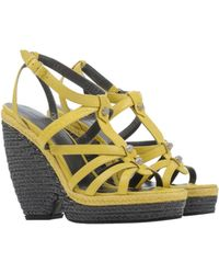 Balenciaga Yellow Espadrilles - Lyst
