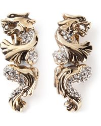 Roberto Cavalli Panther Earrings - Lyst