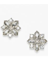 Ann Taylor Crystal Cluster Stud Earrings - Lyst