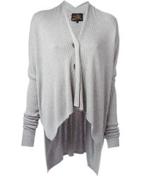 Vivienne Westwood Anglomania Voyage Ribbed-knit Cardigan - Lyst