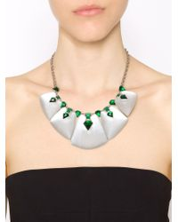 Alexis Bittar - Embellished Bib Necklace - Lyst