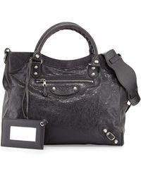 Balenciaga Giant 12 Nickel City Velo Bag black - Lyst