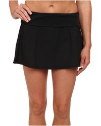 La Blanca - Solid Fold Over Skirt - Lyst