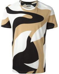 Alexander McQueen Abstract Print T-Shirt - Lyst