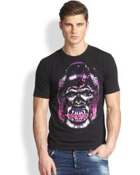 DSquared² Gorilla Print Tshirt - Lyst
