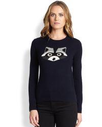Kate Spade Blue Raccoon Sweater - Lyst