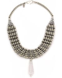 Vanessa Mooney The Saints Statement Necklace - Silver - Lyst