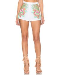 Mara Hoffman - Floral Embroidered Short - Lyst