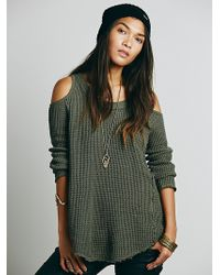 Free People Open Shoulder Pullover - Lyst
