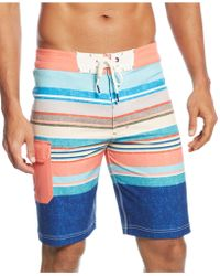 Sperry Top-sider Surfer Bum Striped Board Shorts - Lyst