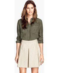 H&M Beige Circular Skirt - Lyst