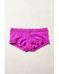 Hanky Panky Pink Lace Boyshorts - Lyst