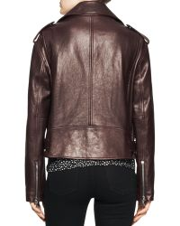Proenza Schouler Shiny Leather Moto Jacket - Lyst