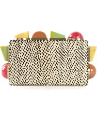 Tonya Hawkes Embellished Spotted Clutch - Lyst