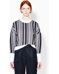3.1 Phillip Lim Dropped Shoulder Sweatshirt With Rolled Ribs multicolor - Lyst