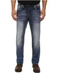 Rock Revival Marlin J5 Button Back Pocket Straight Jean - Lyst