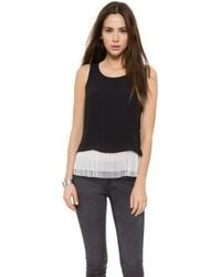 Elizabeth And James Aretha Top - Black/Ivory - Lyst