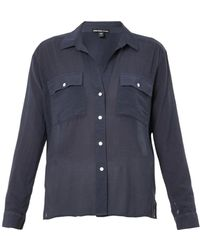 James Perse Cotton and Silkblend Shirt - Lyst