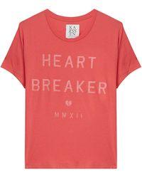 Zoe Karssen Caption T-Shirt - Lyst