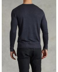 John Varvatos Cold Water Dyed Vneck Sweater - Lyst