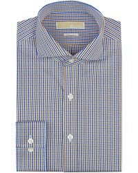 Michael by Michael Kors Regular Fit Micro Gingham Check Dress Shirt - Lyst