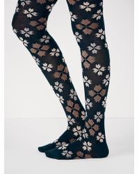 Free People Green Snowflake Tight - Lyst