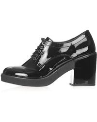 Topshop Jolly Lace Up Shoes  Black - Lyst