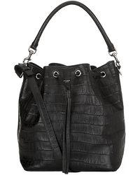 Saint Laurent - Emmanuelle Croc Bucket Bag - Lyst
