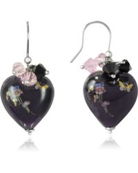 Naoto - Blown Glass Heart Shape Earrings - Lyst