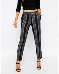 ASOS | Stripe Slim Leg Cigarette Trousers Co-ord | Lyst