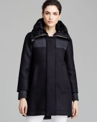 Moncler Coat - Eridan Wool Blend Down Lined - Lyst
